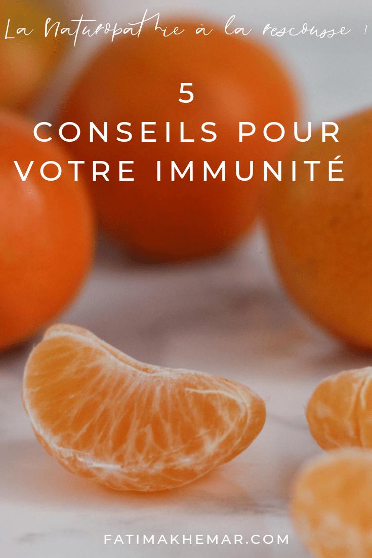 5 conseils pour votre immunité