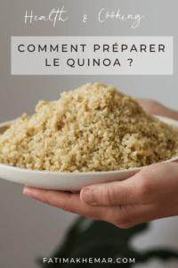 Comment préparer le quinoa ?