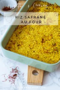 Riz au four au safran